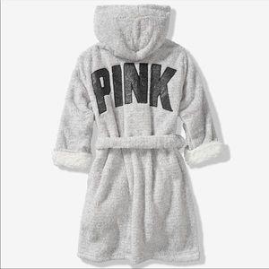 PINK Victoria's Secret plush Sherpa robe